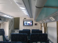 Interior of double deck train